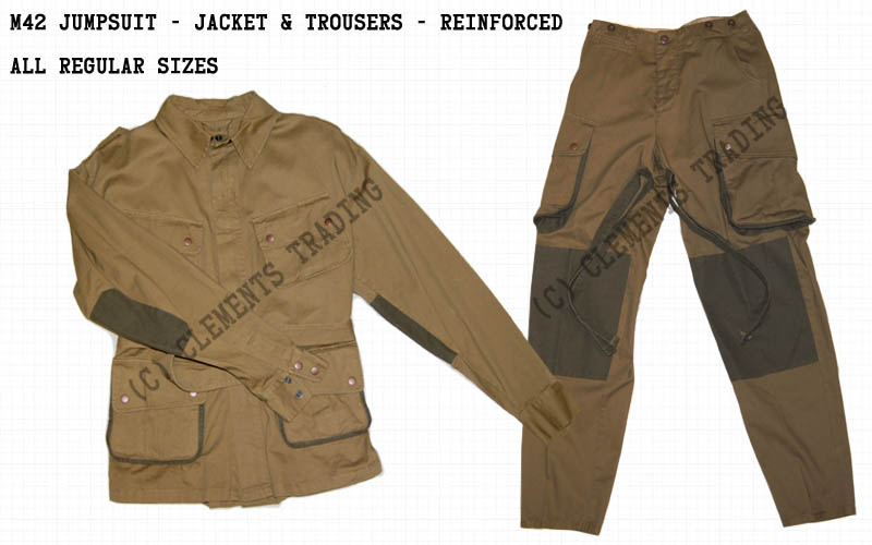 Jumpsuit, M42, Jacket & Trousers, Reinforced