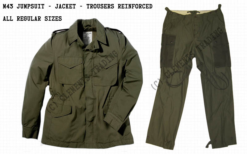 Jumpsuit, M43, Jacket & Reinforced Trousers